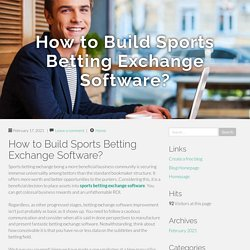 How to Build Sports Betting Exchange Software?