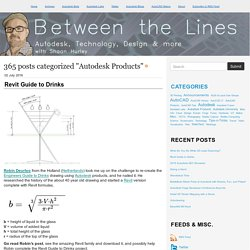 Between the Lines: Autodesk Products
