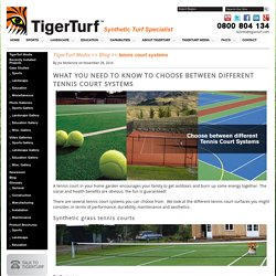 What you need to know to choose between different tennis court systems
