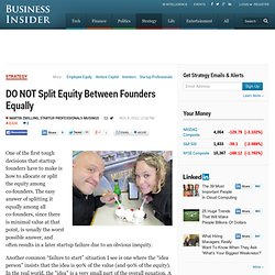 Split Equity Between Founders Equally
