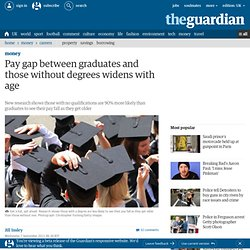 Pay gap between graduates and those without degrees widens with age