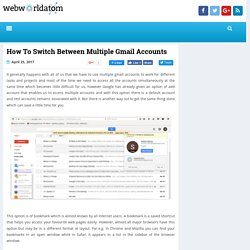 How To Switch Between Multiple Gmail Accounts