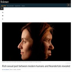Rich sexual past between modern humans and Neandertals revealed