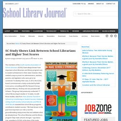 SC Study Shows Link Between School Librarians and Higher Test Scores