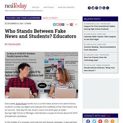 Who Stands Between Fake News and Students? Educators