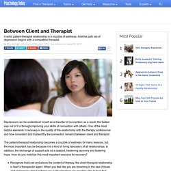 Between Client and Therapist