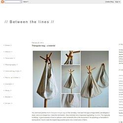 // Between the lines //: Triangular bag