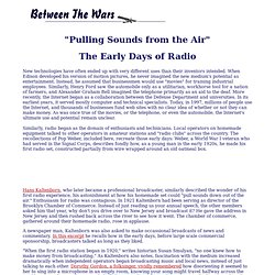 Between the Wars: Radio
