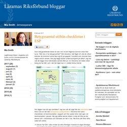 Betygssamtal utifrån checklistan i ESP - Mia Smith