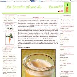 Beurre de pomme - La bouche pleine de...Carotte!