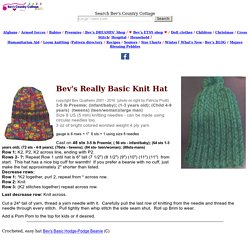 Bev's Basic Hat