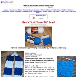 Bev's Knit-Your-Bit scarf