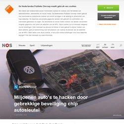 Miljoenen auto's te hacken door gebrekkige beveiliging chip autosleutel