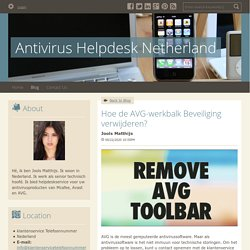 Verwijder de AVG Werkbalk Beveiliging - AVG Contact Nederland
