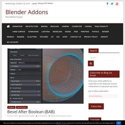 Bevel After Boolean (BAB) - Blender 2.80