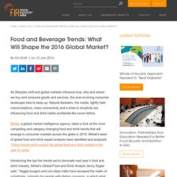 Food and Beverage Trends: What Will Shape the 2016 Global Market? - Food Industry Asia
