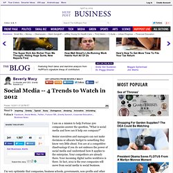 Social Media -- 4 Trends to Watch in 2012 | Web 2.0 technology | Scoop.it