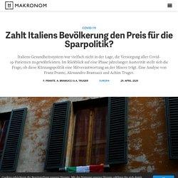 Covid-19: Zahlt Italiens Bevölkerung den Preis für die Sparpolitik?