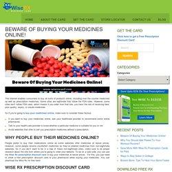 Beware of Buying Medicines Online