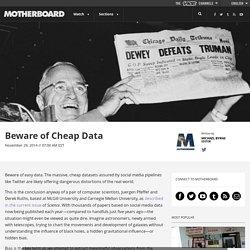 Beware of Cheap Data