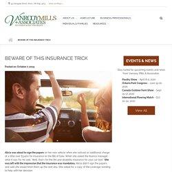 Beware of this Insurance Trick at Vanrooy Mills