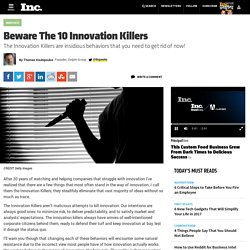 Beware The 10 Innovation Killers