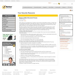 Beware of Word Document Viruses