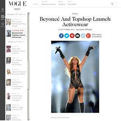 Beyonce Knowles Collaboration Topshop Athletic