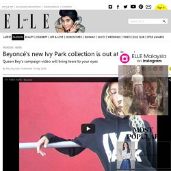 Beyoncé's new Ivy Park collection is out at Topshop now