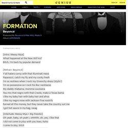 Beyoncé – FORMATION Lyrics