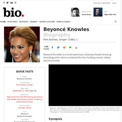 Beyoncé Knowles - Film Actress, Singer