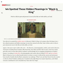 "Beyoncé's ""Black Is King"" Hidden Meanings in Fashion and Art"