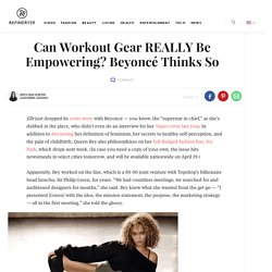 Beyonce Ivy Park Elle Interview Quotes