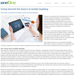 Going beyond the basics in mobile banking