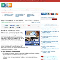 Beyond the PDF: The Case for Content Innovation