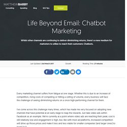 Life Beyond Email: Chatbot Marketing