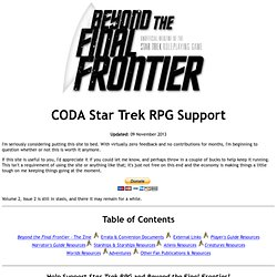 Beyond the Final Frontier - CODA Star Trek RPG Support