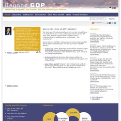 Beyond GDP - International Initiative