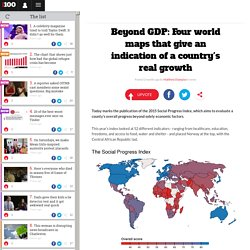 Beyond GDP: Four world maps that give an indication of a country's real growth