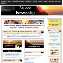 Beyond Intractability - More Constructive Approaches to Destruct