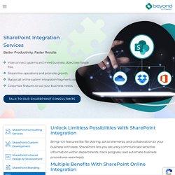 SharePoint Integration - Beyond Intranet