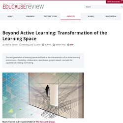 Beyond Active Learning: Transformation of the Learning Space