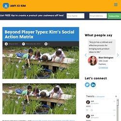 Beyond Player Types: Kim's Social Action Matrix - Amy Jo Kim