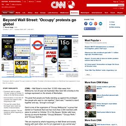 Beyond Wall Street: 'Occupy' protests go global