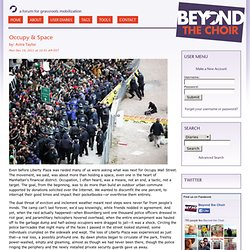 Beyond The Choir:: Occupy & Space