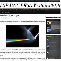 Beyond the speed of light
