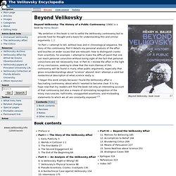 Beyond Velikovsky