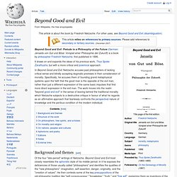 Beyond Good and Evil, wikipedia