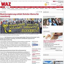 Schulstreik: Bezirksregierung erklärt Schüler-Demo für unzulässig - Bochum - DerWesten