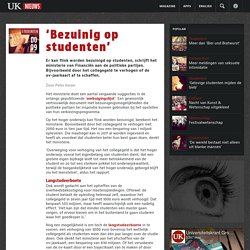 'Bezuinig op studenten'